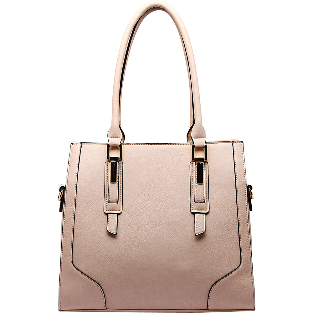MKF Collection by Mia K. Farrow Manhattan Satchel Beige - MKF Collection by Mia K. Farrow Manmade Handbags - Handbags, Manmade Handbags