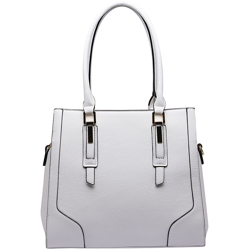 MKF Collection by Mia K. Farrow Manhattan Satchel White - MKF Collection by Mia K. Farrow Manmade Handbags - Handbags, Manmade Handbags