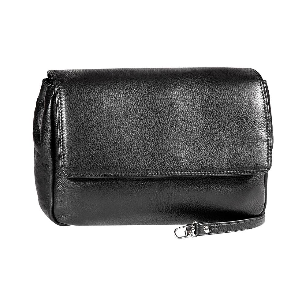 Derek Alexander Ladies Soft Clutch with Removable Strap Black - Derek Alexander Evening Bags - Handbags, Evening Bags