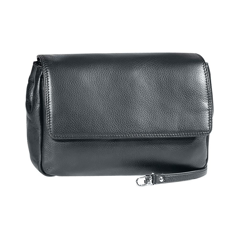Derek Alexander Ladies Soft Clutch with Removable Strap Grey - Derek Alexander Evening Bags - Handbags, Evening Bags