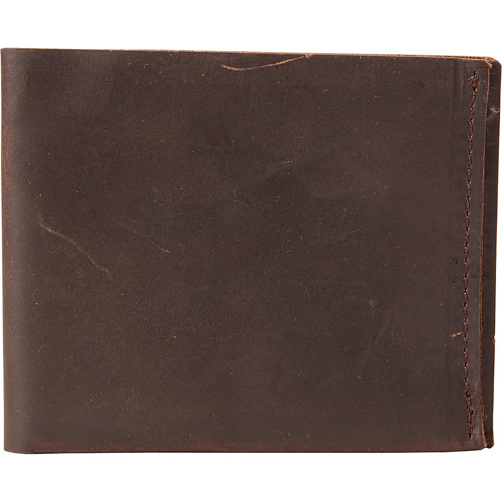 Vagabond Traveler Slim Credit Card Cash Holder Wallet Dark Brown - Vagabond Traveler Mens Wallets - Work Bags & Briefcases, Men's Wallets