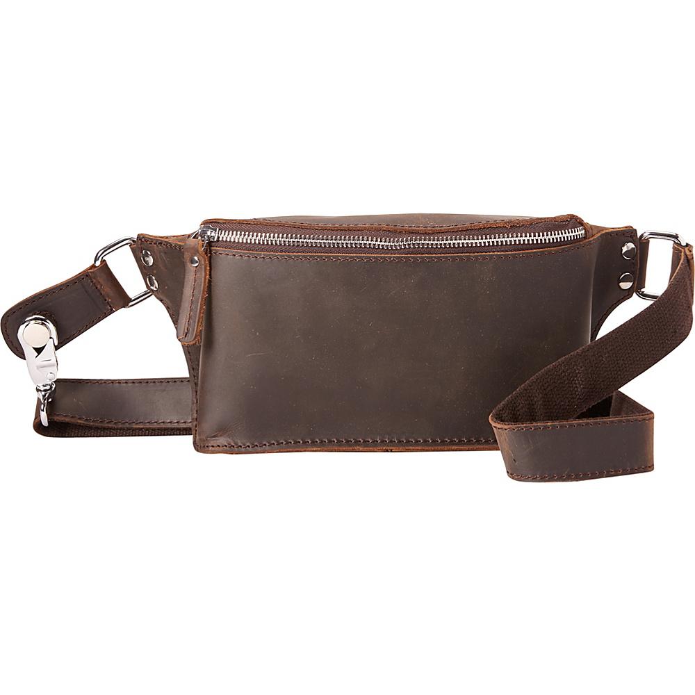 Vagabond Traveler Medium Waist Pack Dark Brown - Vagabond Traveler Waist Packs - Backpacks, Waist Packs