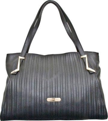 Leatherbay Elba Tote Black - Leatherbay Leather Handbags