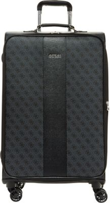 GUESS Travel Nissana 24 inch Expandable Spinner Checked Luggage Charcoal with Silver Hardware - GUESS Travel Softside Checked