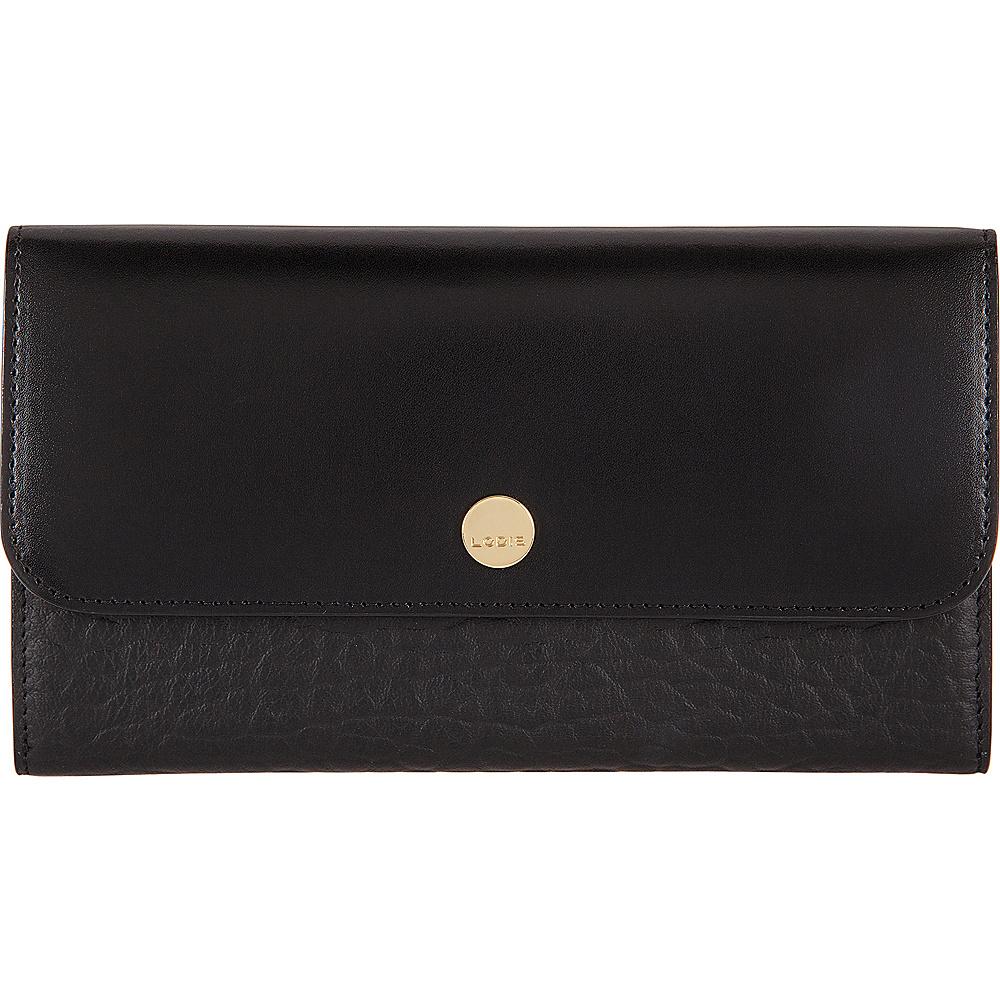Lodis In The Mix RFID Luna Clutch Wallet Jet - Lodis Womens Wallets - Women's SLG, Women's Wallets