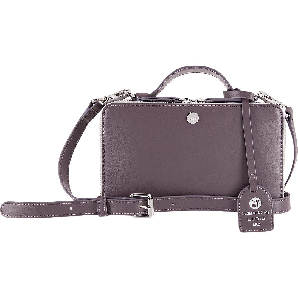 Lodis Downtown RFID Sally Zip Around Crossbody Cement/Lava - Lodis Leather Handbags - Handbags, Leather Handbags