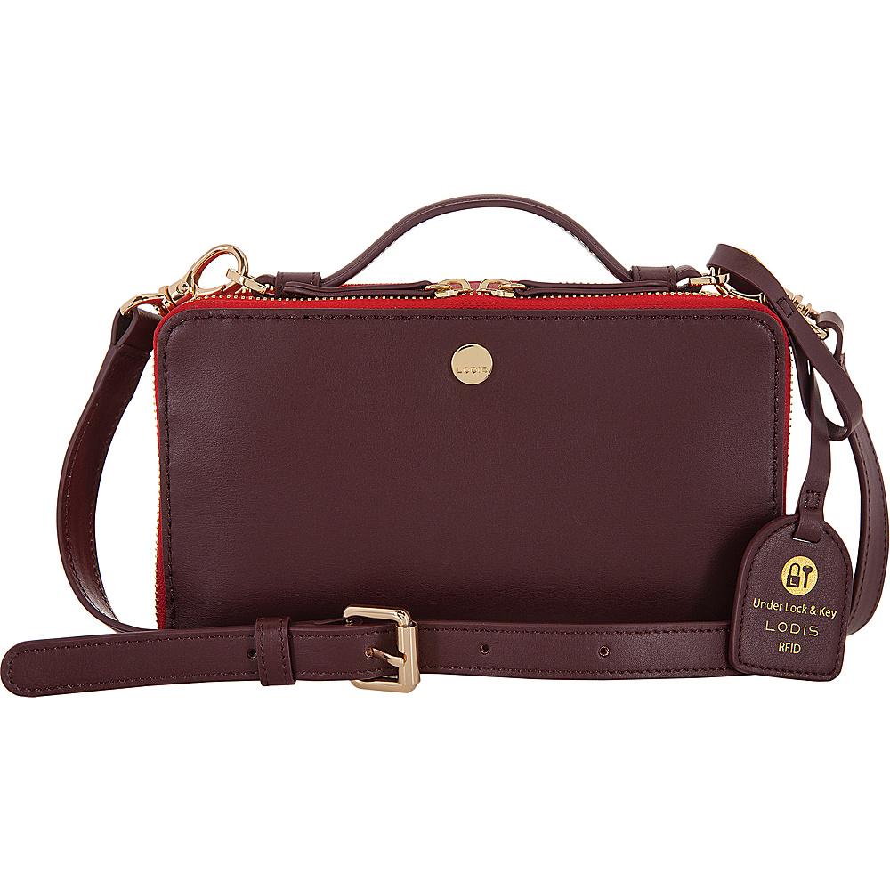Lodis Downtown RFID Sally Zip Around Crossbody Red/Chianti - Lodis Leather Handbags - Handbags, Leather Handbags