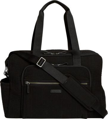 Vera Bradley Iconic Deluxe Weekender Travel Bag - Solids Classic Black - Vera Bradley Travel Duffels