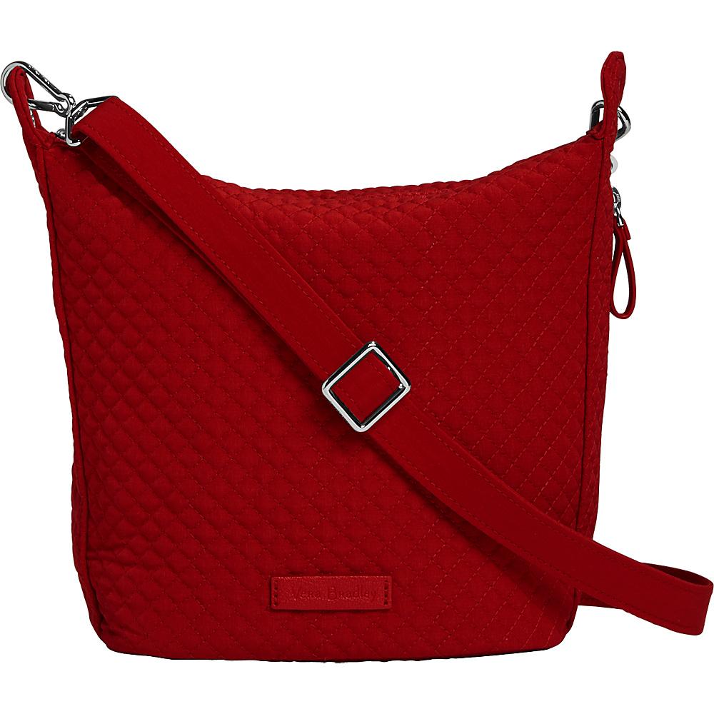 Vera Bradley Carson Mini Hobo Crossbody - Solids Cardinal Red - Vera Bradley Fabric Handbags - Handbags, Fabric Handbags