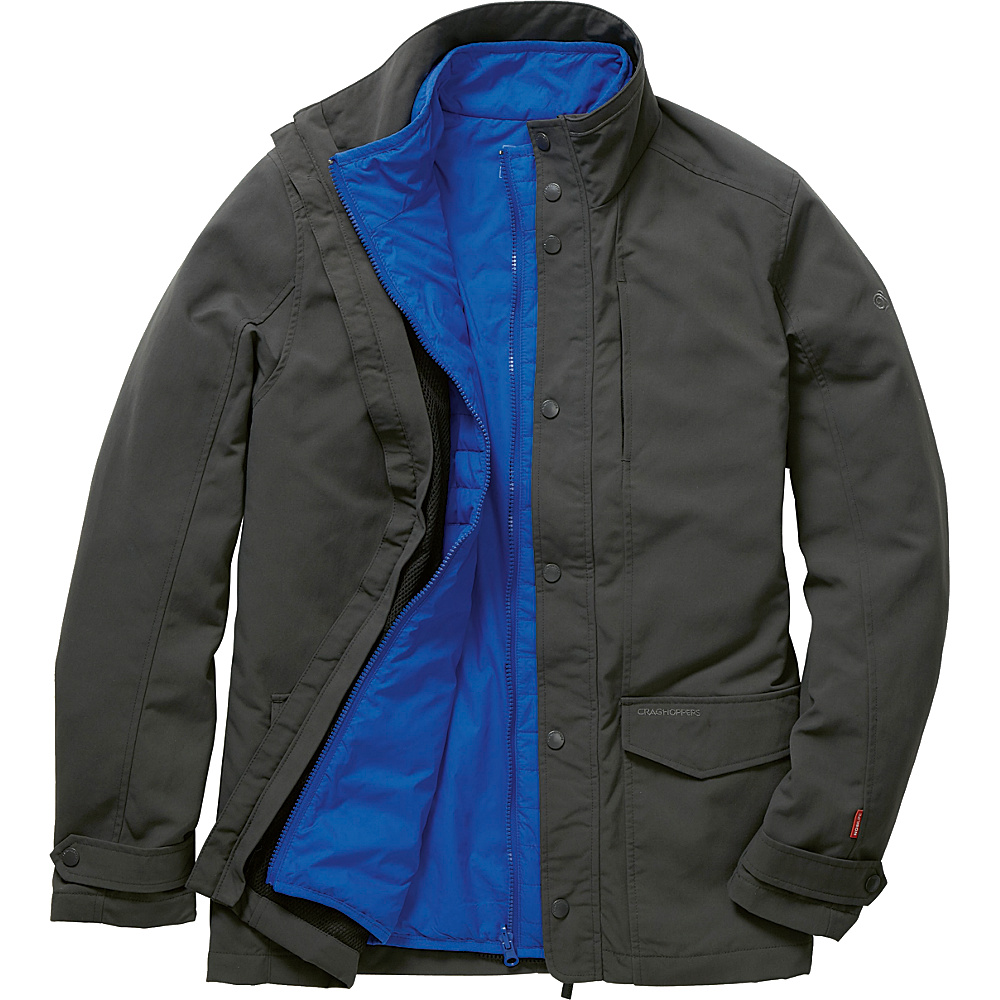 Craghoppers NosiLife Desert 3 in 1 Jacket L - Black Pepper - Craghoppers Mens Apparel - Apparel & Footwear, Men's Apparel