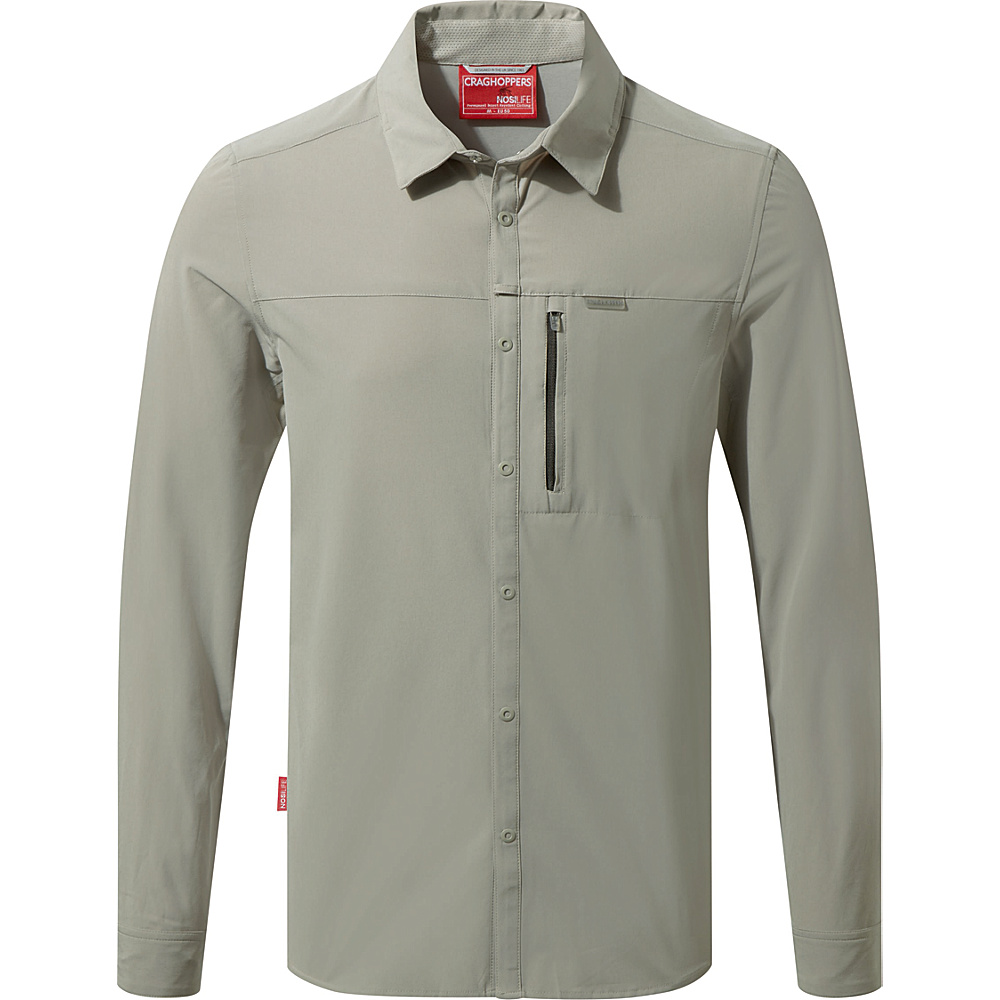 Craghoppers NosiLife Pro Long Sleeve Shirt L - Parchment - Craghoppers Mens Apparel - Apparel & Footwear, Men's Apparel