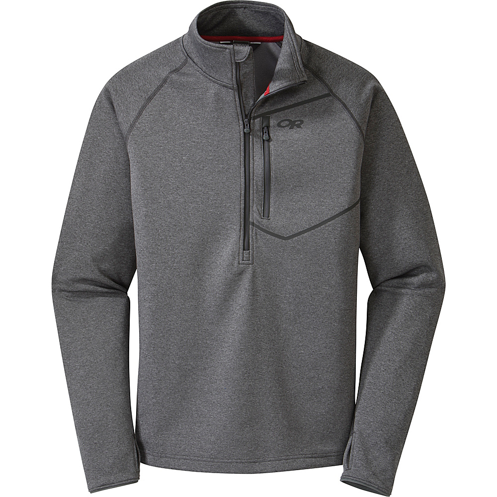 Outdoor Research Mens Starfire Zip Top Shirt S - Charcoal - Outdoor Research Mens Apparel - Apparel & Footwear, Men's Apparel