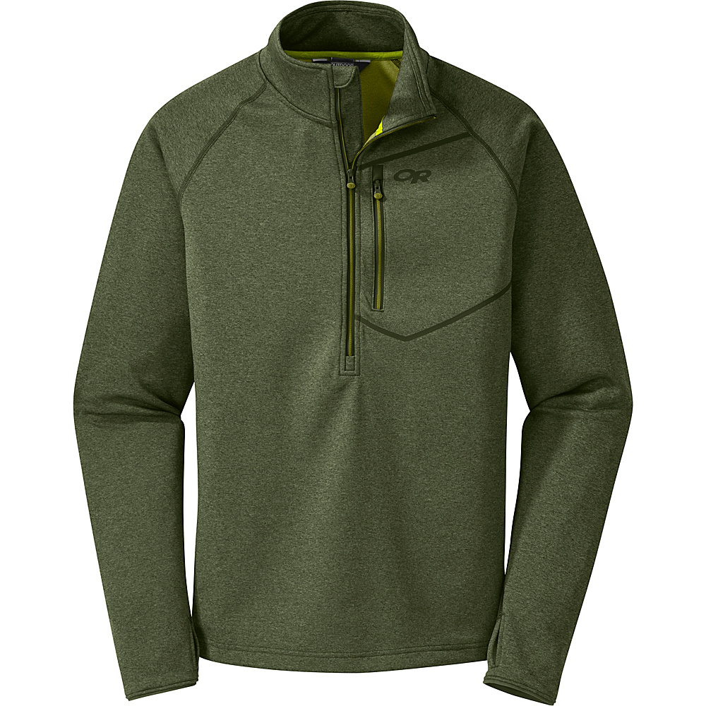 Outdoor Research Mens Starfire Zip Top Shirt S - Kale/Hops - Outdoor Research Mens Apparel - Apparel & Footwear, Men's Apparel