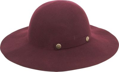 Adora Hats Foldable Wool Felt Floppy Hat One Size - Wine - Adora Hats Hats/Gloves/Scarves