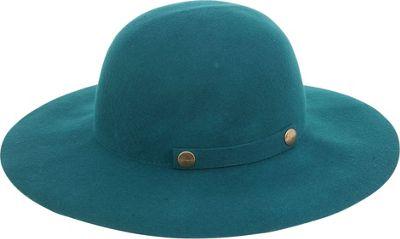 Adora Hats Foldable Wool Felt Floppy Hat One Size - Teal - Adora Hats Hats/Gloves/Scarves