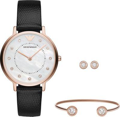 Emporio Armani Women's Dress Watch Gift Set Black - Emporio Armani Watches