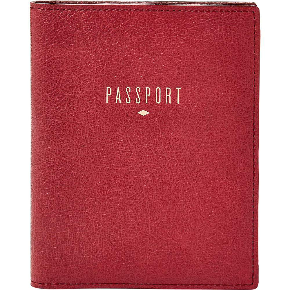 Fossil RFID Passport Case Red Velvet - Fossil Travel Wallets - Travel Accessories, Travel Wallets