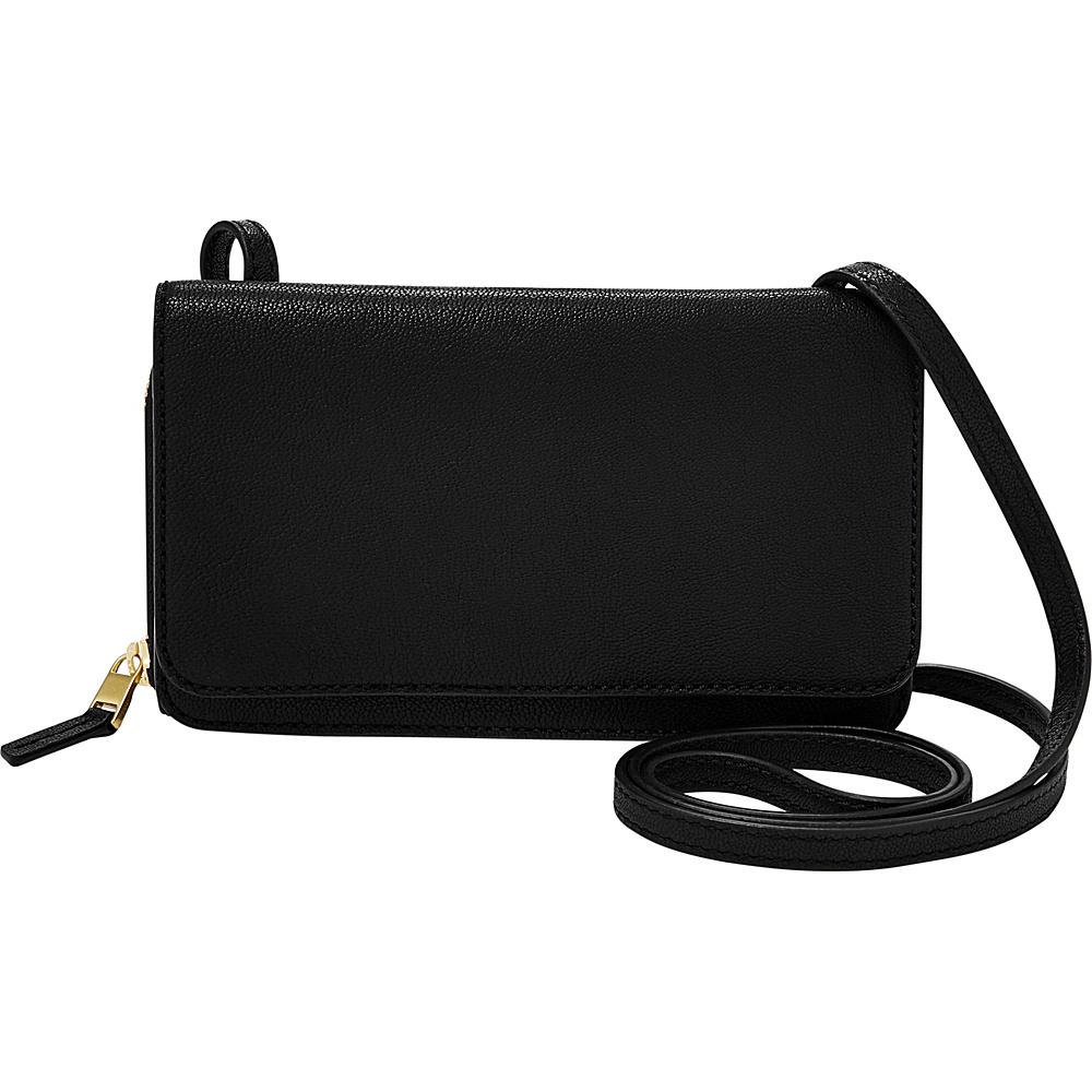 Fossil Brynn Mini Bag Black - Fossil Leather Handbags - Handbags, Leather Handbags