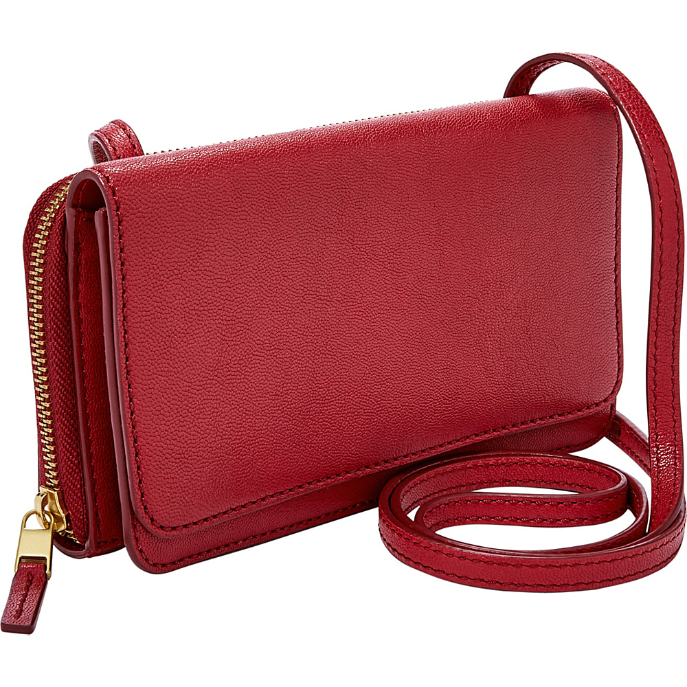Fossil Brynn Mini Bag Red Velvet - Fossil Leather Handbags - Handbags, Leather Handbags