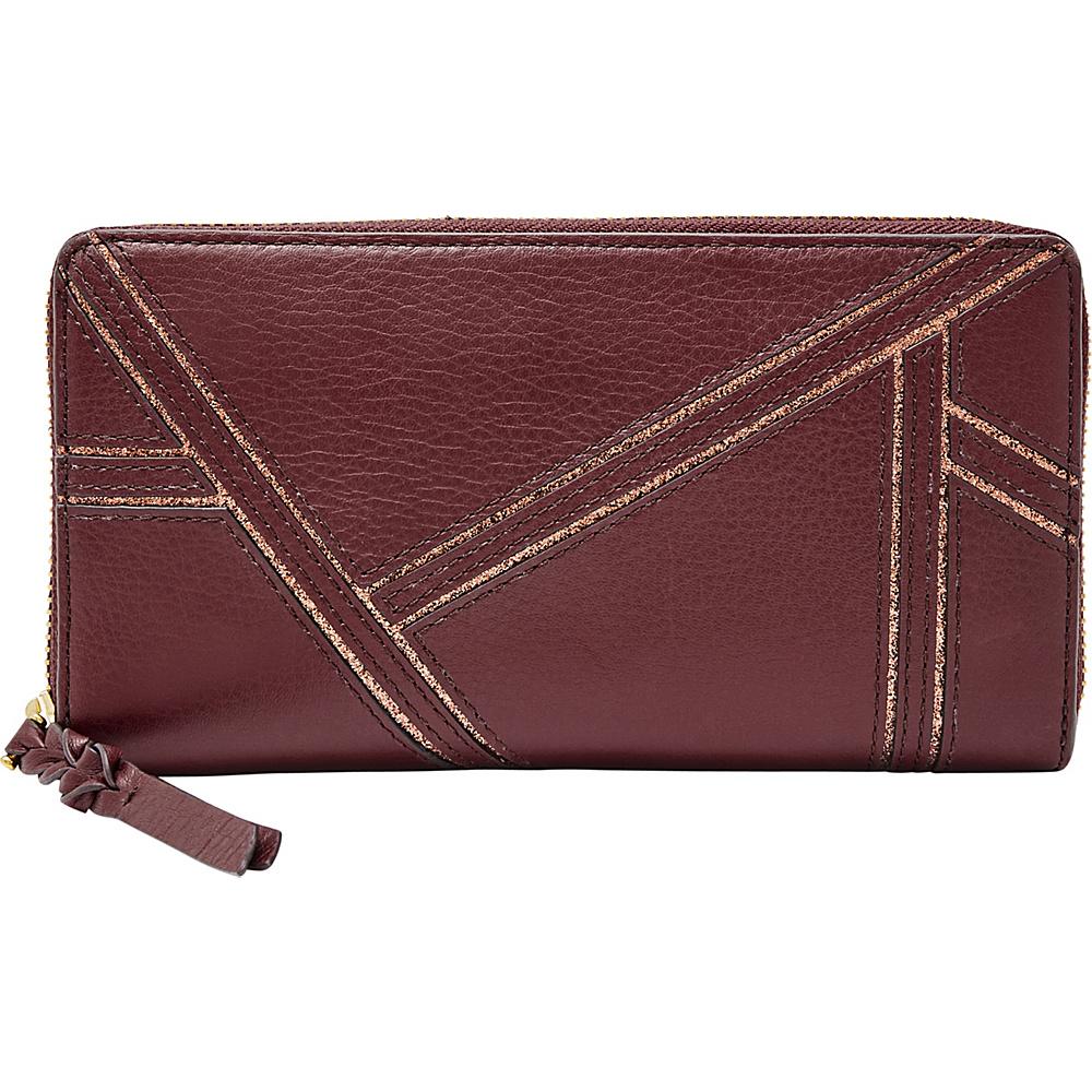 Fossil Caroline RFID Zip Around Wallet Cabernet - Fossil Womens Wallets - Women's SLG, Women's Wallets