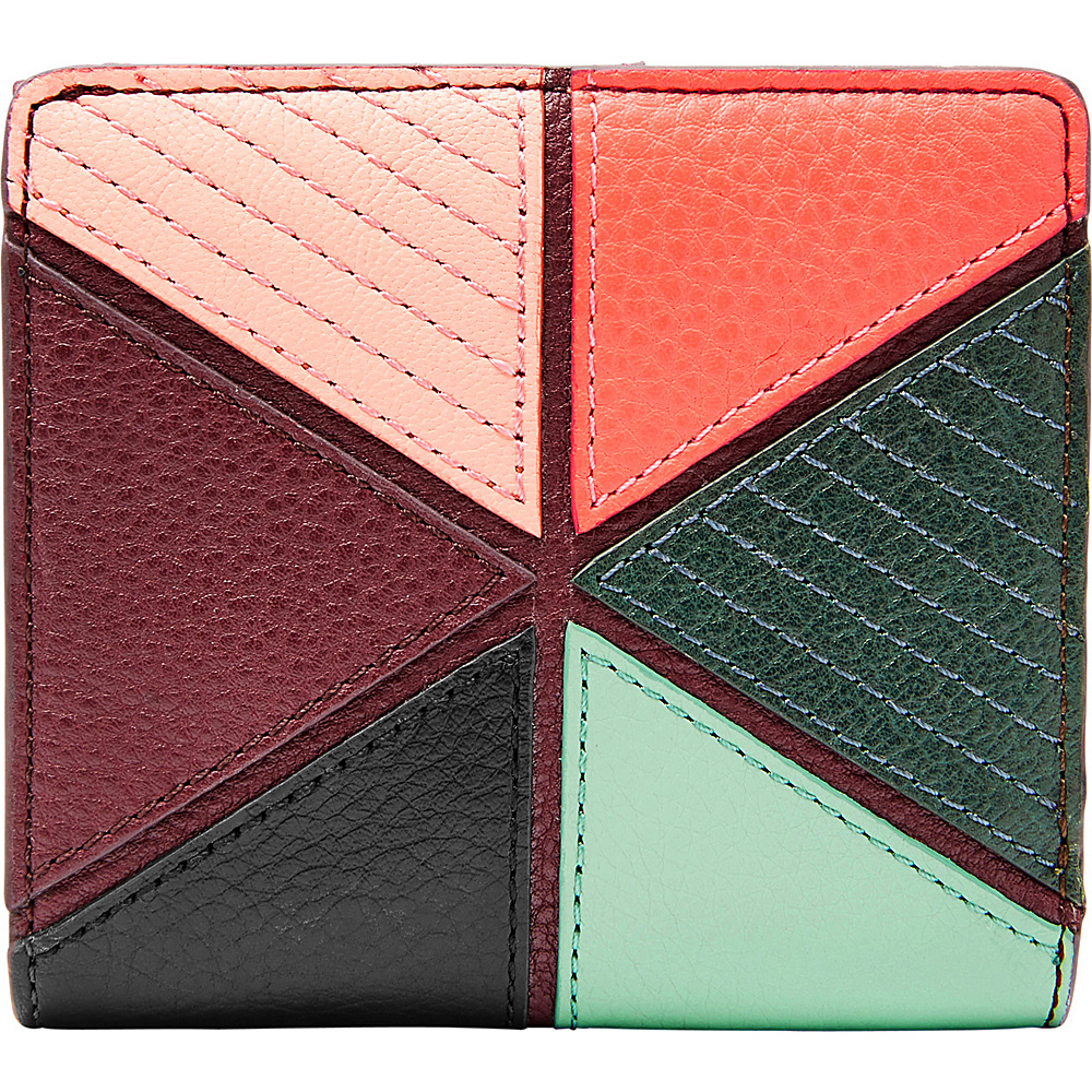 Fossil Caroline RFID Mini Wallet Multi Patchwork - Fossil Womens Wallets - Women's SLG, Women's Wallets
