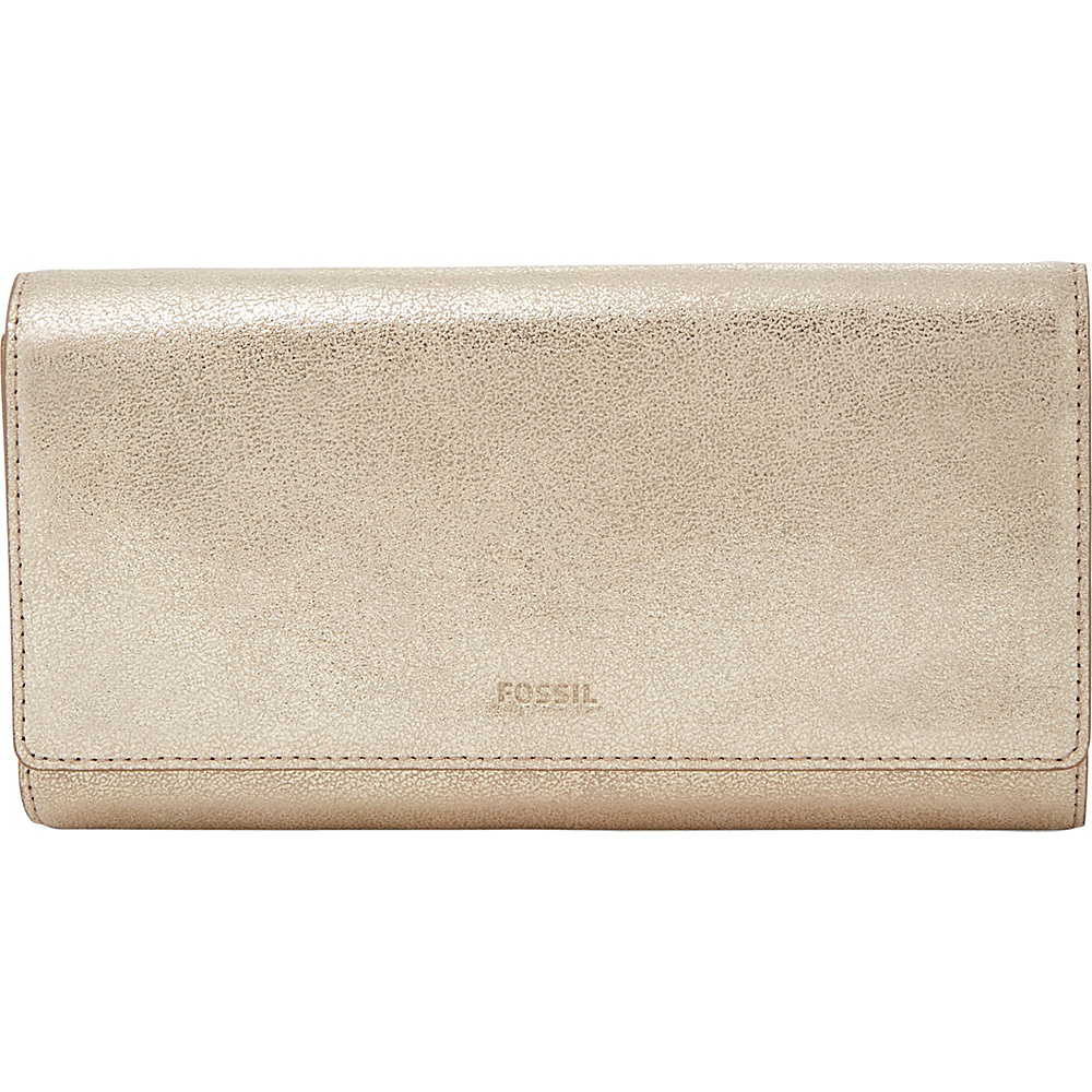 Fossil Emma RFID Flap Clutch Gold - Fossil Womens Wallets - Women's SLG, Women's Wallets