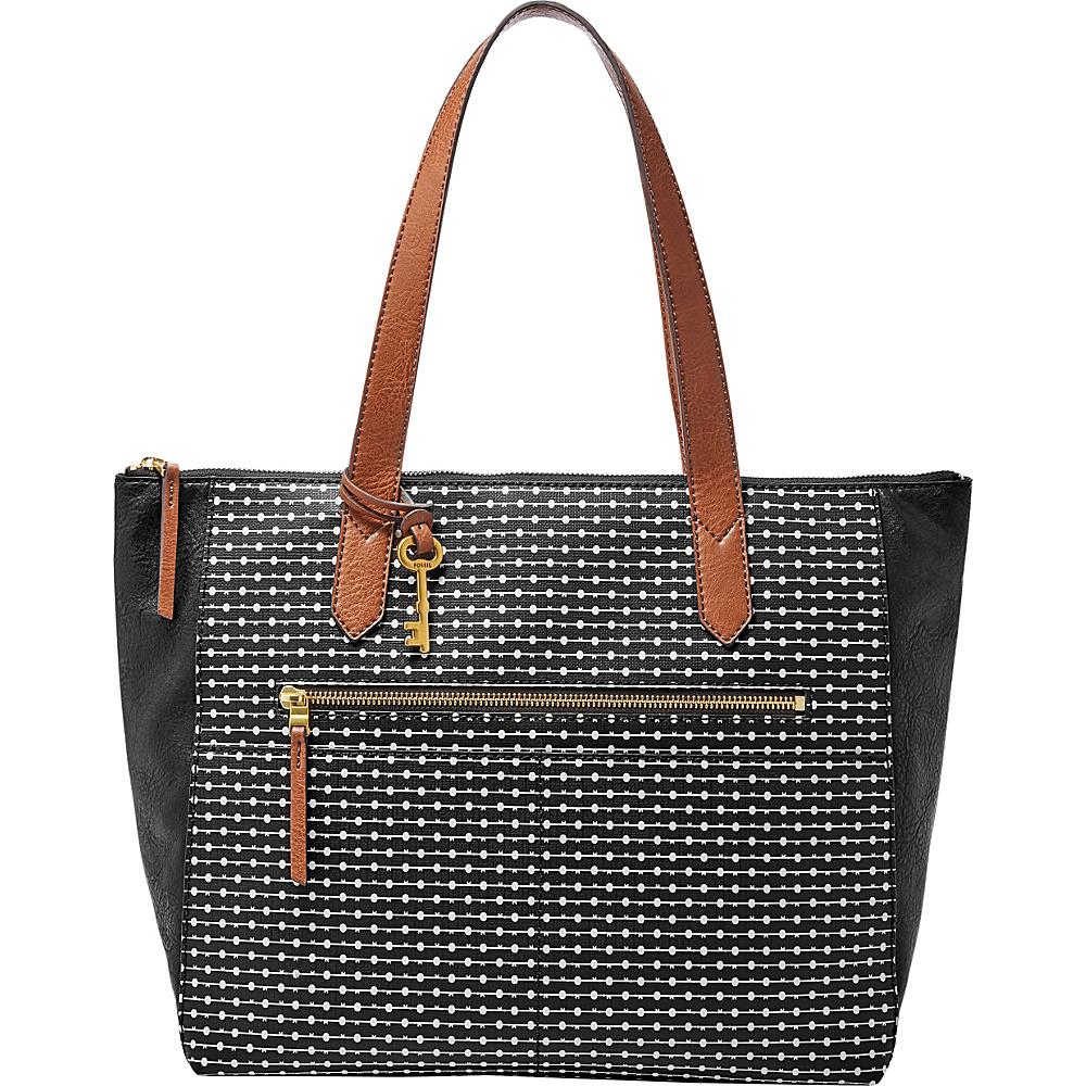 Fossil Fiona EW Tote Black Stripe - Fossil Manmade Handbags - Handbags, Manmade Handbags