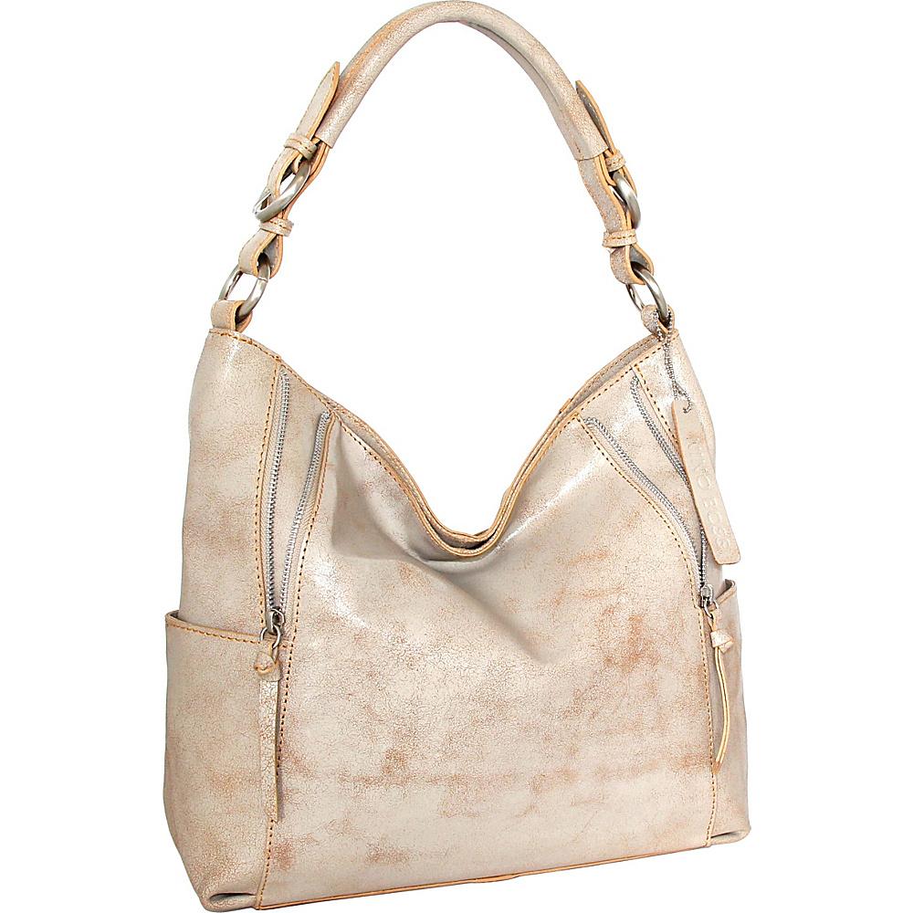 Nino Bossi Indira Shoulder Bag White/Beige - Nino Bossi Leather Handbags - Handbags, Leather Handbags