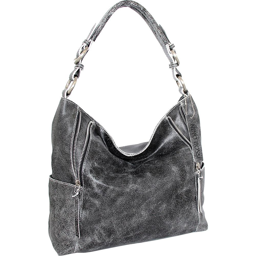 Nino Bossi Indira Shoulder Bag Black/White - Nino Bossi Leather Handbags - Handbags, Leather Handbags
