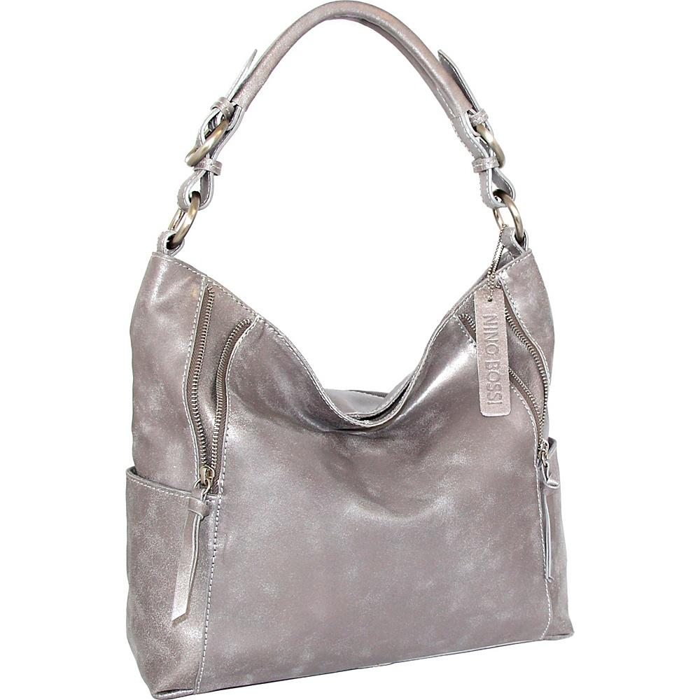 Nino Bossi Indira Shoulder Bag Pewter - Nino Bossi Leather Handbags - Handbags, Leather Handbags