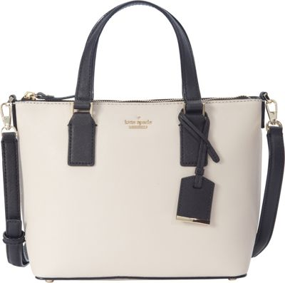 kate spade new york Cameron Street Lucie Crossbody Tusk/Black - kate spade new york Designer Handbags