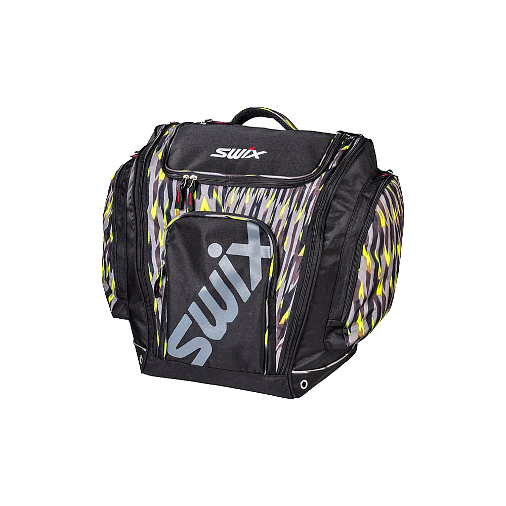 c81323a745 Swix Eaton Tri Pack Boot Bag Eaton Black Yellow Print - Swix Ski and  Snowboard