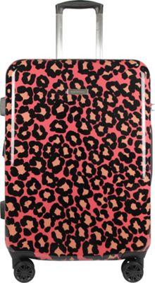 Isaac Mizrahi Gabby 26 inch 8-Wheel Hardside Spinner Checked Luggage Pink - Isaac Mizrahi Hardside Checked