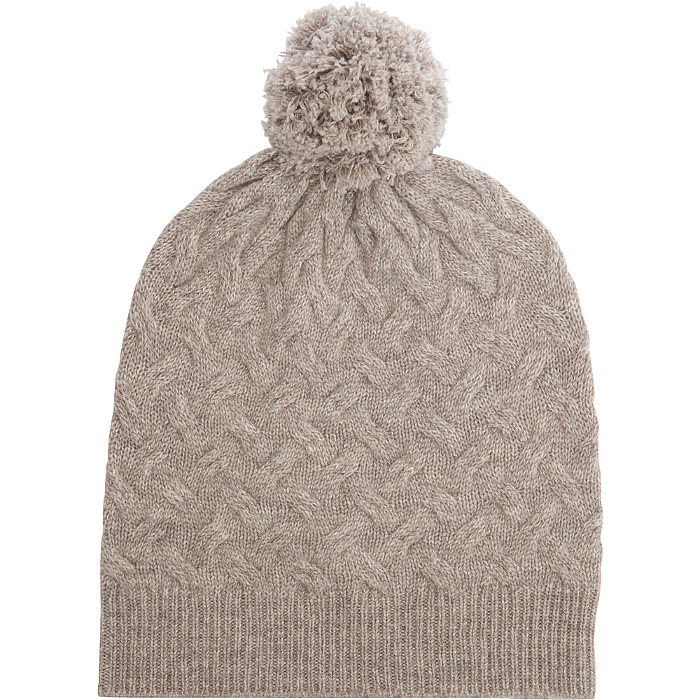 Kinross Cashmere Cable Hat One Size - Antler - Kinross Cashmere Hats/Gloves/Scarves - Fashion Accessories, Hats/Gloves/Scarves