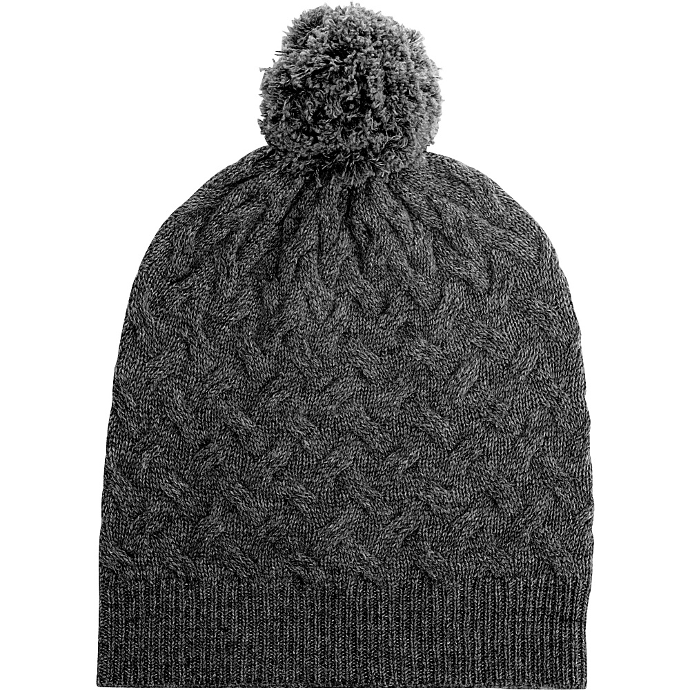 Kinross Cashmere Cable Hat One Size - Charcoal - Kinross Cashmere Hats/Gloves/Scarves - Fashion Accessories, Hats/Gloves/Scarves