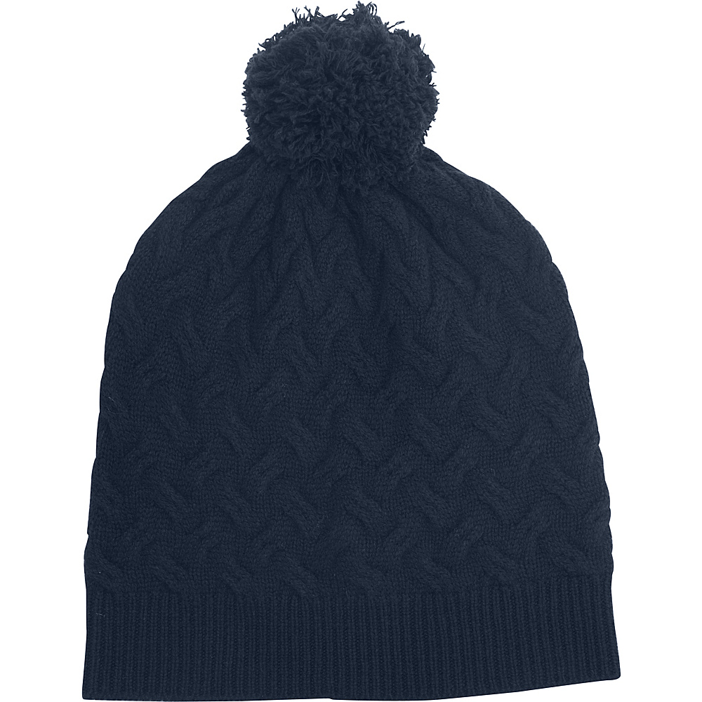 Kinross Cashmere Cable Hat One Size - Dusk - Kinross Cashmere Hats/Gloves/Scarves - Fashion Accessories, Hats/Gloves/Scarves