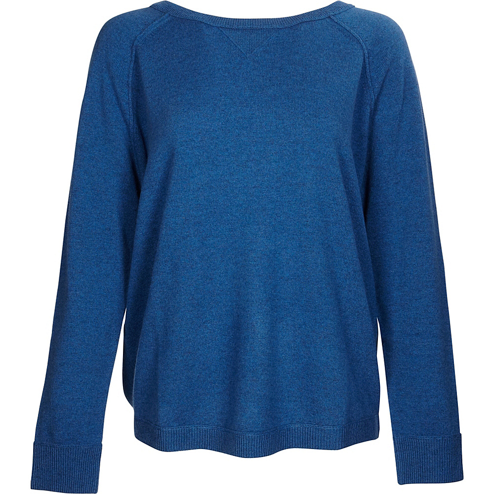 Kinross Cashmere Exposed Seam Sweatshirt S - Chamonix - Kinross Cashmere Womens Apparel - Apparel & Footwear, Women's Apparel