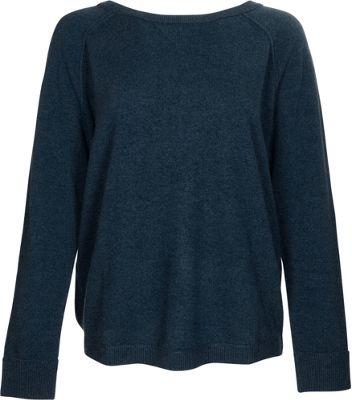 Kinross Cashmere Exposed Seam Sweatshirt L - Dusk - Kinross Cashmere Women's Apparel
