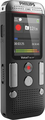 Philips Speech Voice Tracer with 2 Mic Stereo Recording Black - Philips Speech Portable Entertainment
