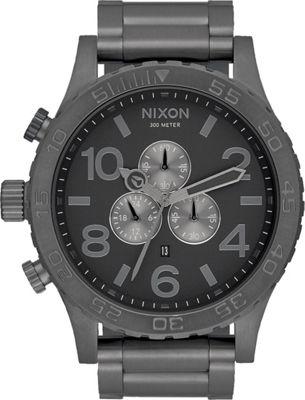 Nixon 51-30 Chrono Watch All Gunmetal/Grey - Nixon Watches