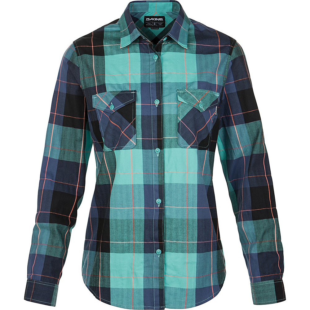 DAKINE Womens Nellie Boyfriend Flannel Shirt S - Aquamarine - DAKINE Womens Apparel - Apparel & Footwear, Women's Apparel
