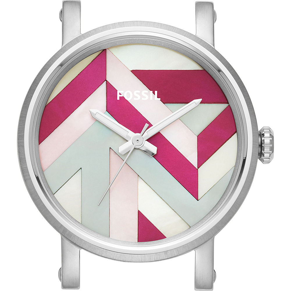Fossil Original Boyfriend Three-Hand Mother-of-Pearl Watch Case Silver - Fossil Watches - Fashion Accessories, Watches