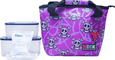 Ed Heck Luggage Curved Top Lunch Tote Purple - Ed Heck Luggage Travel Coolers