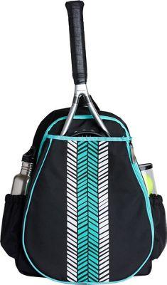 Ame & Lulu Love All Tennis Backpack Aqua Shutters - Ame & Lulu Racquet Bags