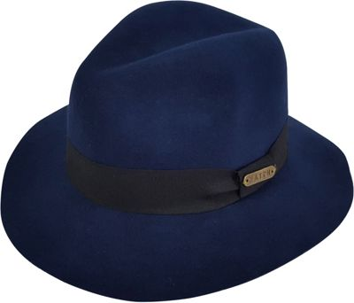 Hatch Hats Gangster Wool Felt Fedora Hat One Size - Navy - Hatch Hats Hats/Gloves/Scarves