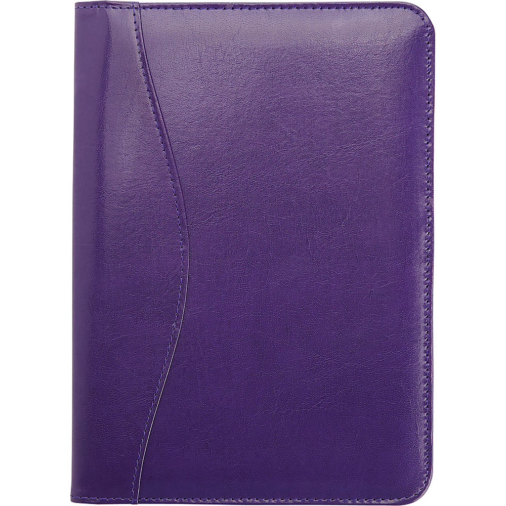 Royce Leather Compact Writing Portfolio Organizer in Genuine Leather Plum - Royce Leather Business Accessories - Work Bags & Briefcases, Business Accessories