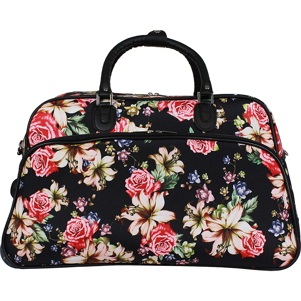 World Traveler Flower Bloom 21 Carry-On Rolling Duffel Bag Flower Bloom - World Traveler Travel Duffels - Duffels, Travel Duffels