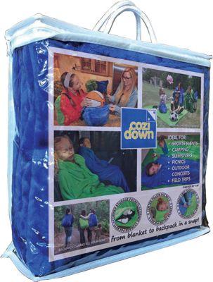 Cozidown Plush Convertible Blanket/Backpack - Child Ocean Blue - Cozidown Travel Pillows & Blankets