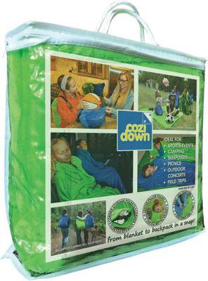 Cozidown Plush Convertible Blanket/Backpack - Child Lime Green - Cozidown Travel Pillows & Blankets