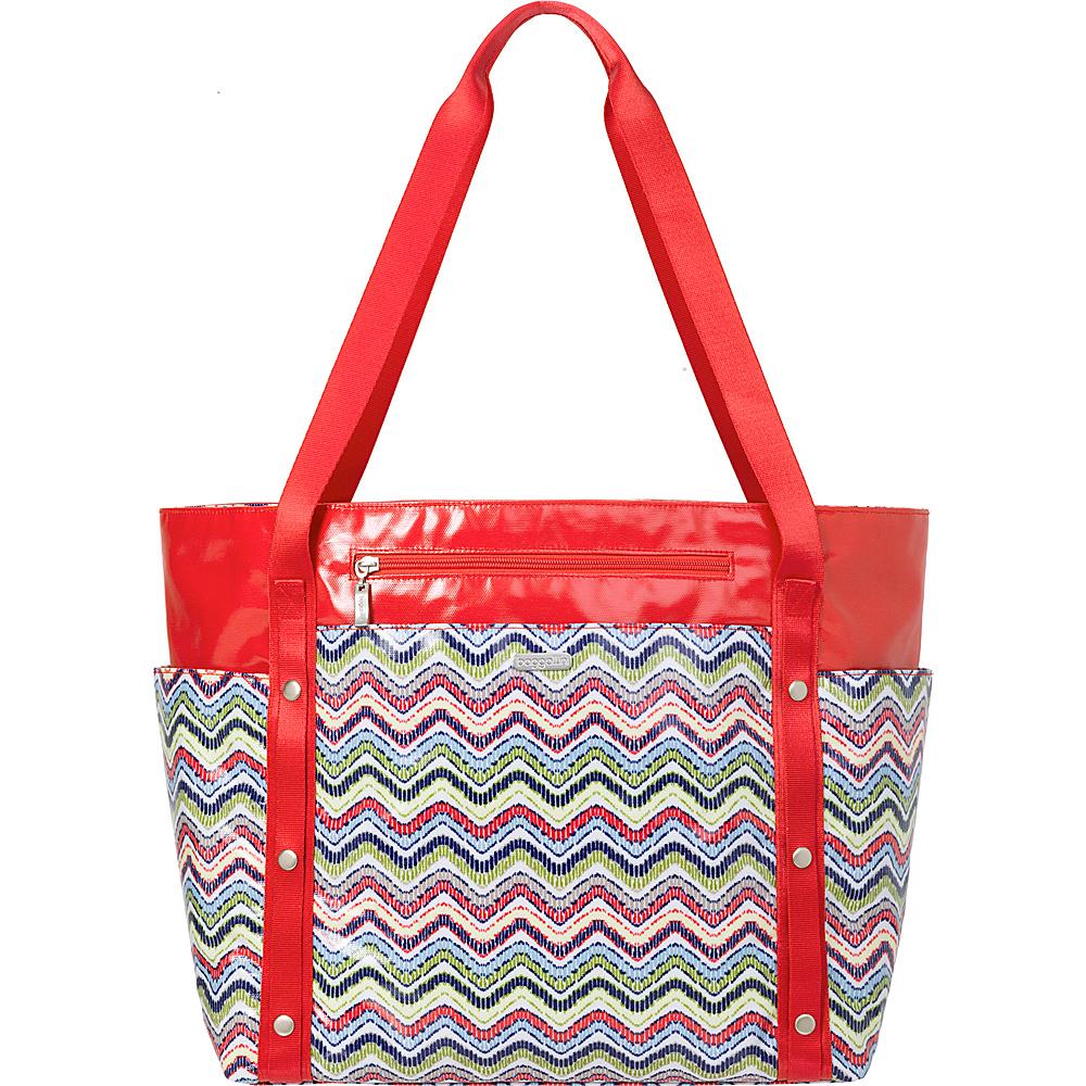 baggallini Beach Tote Wave Print Multi - baggallini Fabric Handbags - Handbags, Fabric Handbags